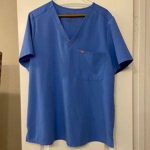 FIGS ceil blue catarina size XL scrub top